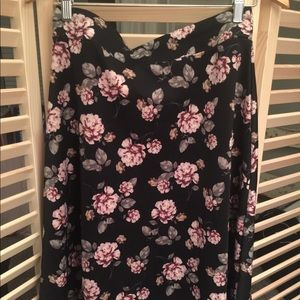 Floral skirt with stretch